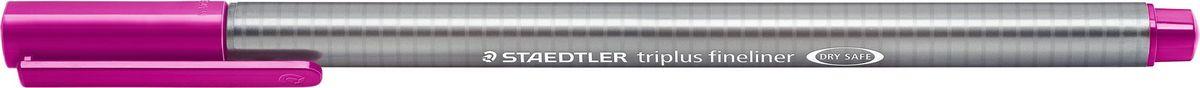 Staedtler Ручка капиллярная Triplus 334 0,3 мм цвет чернил темно-сиреневый334-61Капиллярная ручка с корпусом из полипропилена и эргономичной трехгранной формой для удобного и легкого письма. Пишущий узел завальцован в металл. Чернила на водной основе отстирываются с большинства тканей. Можно оставить без колпачка на 18 часов и не опасаться высыхания.