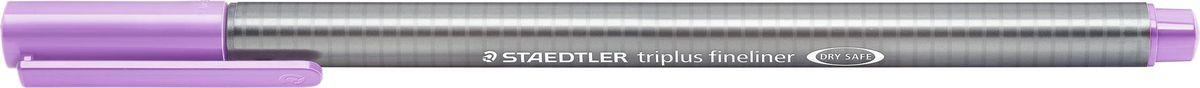 Staedtler Ручка капиллярная Triplus 334 0,3 мм цвет чернил лавандовый334-62Капиллярная ручка с корпусом из полипропилена и эргономичной трехгранной формой для удобного и легкого письма. Пишущий узел завальцован в металл. Чернила на водной основе отстирываются с большинства тканей. Можно оставить без колпачка на 18 часов и не опасаться высыхания.