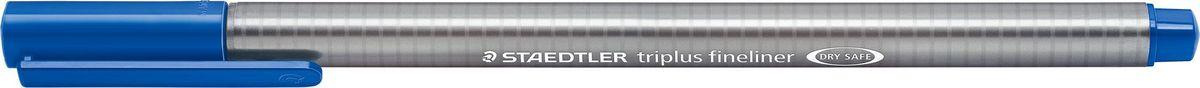Staedtler Ручка капиллярная Triplus 334 0,3 мм цвет чернил синий фаянс334-63Капиллярная ручка с корпусом из полипропилена и эргономичной трехгранной формой для удобного и легкого письма. Пишущий узел завальцован в металл. Чернила на водной основе отстирываются с большинства тканей. Можно оставить без колпачка на 18 часов и не опасаться высыхания.