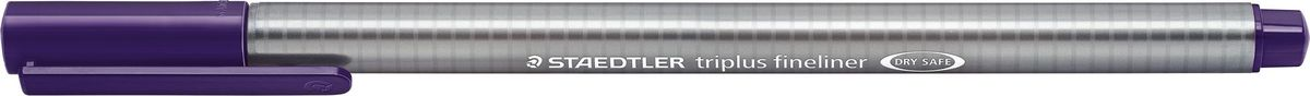 Staedtler Ручка капиллярная Triplus 334 0,3 мм цвет чернил красно-фиолетовый334-69Капиллярная ручка с корпусом из полипропилена и эргономичной трехгранной формой для удобного и легкого письма. Пишущий узел завальцован в металл. Чернила на водной основе отстирываются с большинства тканей. Можно оставить без колпачка на 18 часов и не опасаться высыхания.