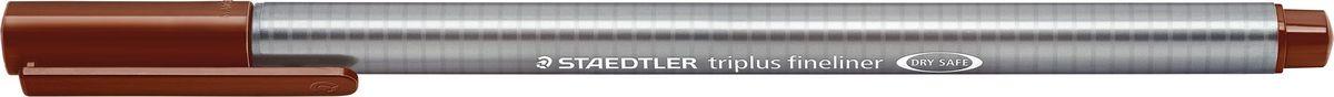 Staedtler Ручка капиллярная Triplus 334 0,3 мм цвет чернил коричневый Ван Дейк334-76Капиллярная ручка с корпусом из полипропилена и эргономичной трехгранной формой для удобного и легкого письма. Пишущий узел завальцован в металл. Чернила на водной основе отстирываются с большинства тканей. Можно оставить без колпачка на 18 часов и не опасаться высыхания.
