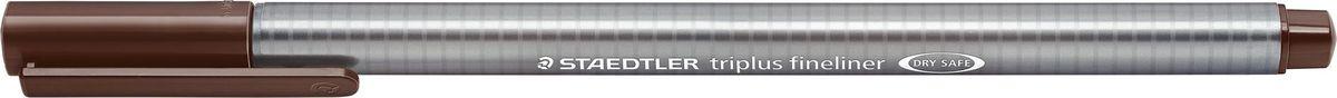 Staedtler Ручка капиллярная Triplus 334 0,3 мм цвет чернил коричневый табачный334-77Капиллярная ручка с корпусом из полипропилена и эргономичной трехгранной формой для удобного и легкого письма. Пишущий узел завальцован в металл. Чернила на водной основе отстирываются с большинства тканей. Можно оставить без колпачка на 18 часов и не опасаться высыхания.