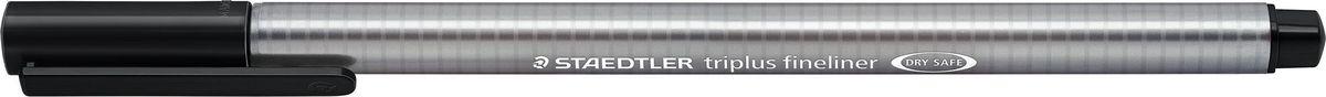 Staedtler Ручка капиллярная Triplus Liner 0,3 мм цвет чернил черный334-9Капиллярная ручка triplus 334 серии. Цвет черный. Эргономичная трехгранная форма для удобного и легкого письма. Пишущий узел завальцован в металл. Защита от высыхания - может быть оставлен без колпачка на несколько дней (тест ISO). Чернила на водной основе. Остирывается с большинства тканей. Корпус из полипропилена гарантирует долгий срок службы. Толщина линиии примерно 0,3 мм.
