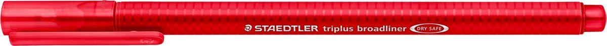 Staedtler Ручка капиллярная Triplus 338 0,8 мм цвет чернил красный338-2Капиллярная ручка серии triplus broadliner 338, цвет - красный. Толщина линии - 0,8 мм. Эргономичная трехгранная форма для удобного и легкого письма. Пишущий узел завальцован в металл. Защита от высыхания - может быть оставлен без колпачка на несколько дней (тест ISO). Чернила на водной основе. Отстирывается с большинства тканей. Корпус из полипропилена гарантирует долгий срок службы. Идеальна как для письма, так и для раскрашивания, рисования.