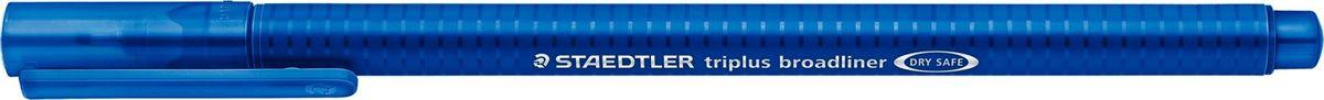 Staedtler Ручка капиллярная Triplus 338 0,8 мм цвет чернил синий338-3Капиллярная ручка с корпусом из полипропилена и эргономичной трехгранной формой для удобного и легкого письма. Пишущий узел завальцован в металл. Чернила на водной основе отстирываются с большинства тканей. Можно оставить без колпачка на 18 часов и не опасаться высыхания.