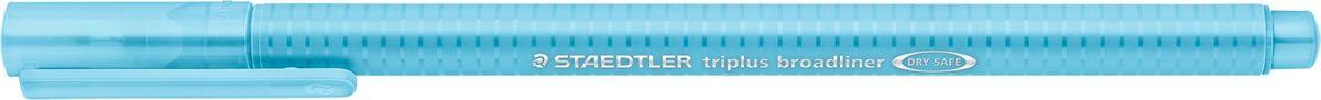 Staedtler Ручка капиллярная Triplus 338 0,8 мм цвет чернил голубой338-34Капиллярная ручка серии triplus broadliner 338, цвет - голубой. Толщина линии - 0,8 мм. Эргономичная трехгранная форма для удобного и легкого письма. Пишущий узел завальцован в металл. Защита от высыхания - может быть оставлен без колпачка на несколько дней (тест ISO). Чернила на водной основе. Отстирывается с большинства тканей. Корпус из полипропилена гарантирует долгий срок службы. Идеальна как для письма, так и для раскрашивания, рисования.