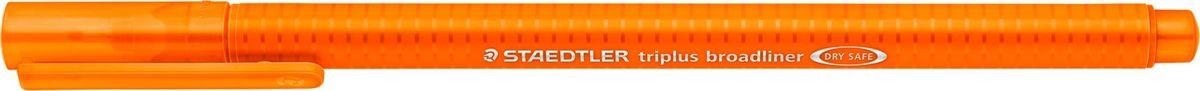 Staedtler Ручка капиллярная Triplus 338 0,8 мм цвет чернил оранжевый338-4Капиллярная ручка серии triplus broadliner 338, цвет - оранжевый. Толщина линии - 0,8 мм. Эргономичная трехгранная форма для удобного и легкого письма. Пишущий узел завальцован в металл. Защита от высыхания - может быть оставлен без колпачка на несколько дней (тест ISO). Чернила на водной основе. Отстирывается с большинства тканей. Корпус из полипропилена гарантирует долгий срок службы. Идеальна как для письма, так и для раскрашивания, рисования.