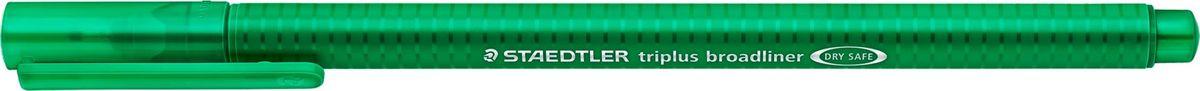 Staedtler Ручка капиллярная Triplus 338 0,8 мм цвет чернил зеленый338-5Капиллярная ручка с корпусом из полипропилена и эргономичной трехгранной формой для удобного и легкого письма. Пишущий узел завальцован в металл. Чернила на водной основе отстирываются с большинства тканей. Можно оставить без колпачка на 18 часов и не опасаться высыхания.