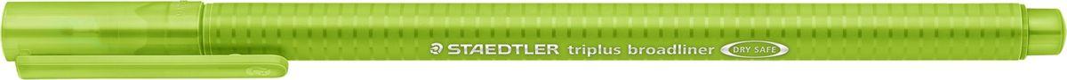 Staedtler Ручка капиллярная Triplus 338 0,8 мм цвет чернил салатовый338-51Капиллярная ручка с корпусом из полипропилена и эргономичной трехгранной формой для удобного и легкого письма. Пишущий узел завальцован в металл. Чернила на водной основе отстирываются с большинства тканей. Можно оставить без колпачка на 18 часов и не опасаться высыхания.