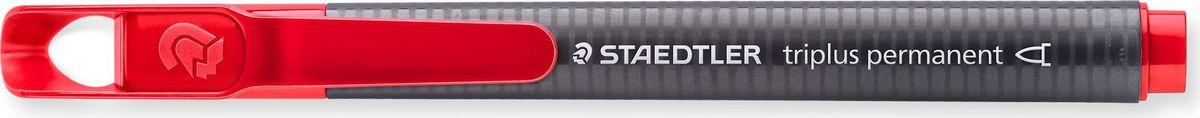 Staedtler Маркер перманентный Triplus 1-2 мм цвет чернил красный