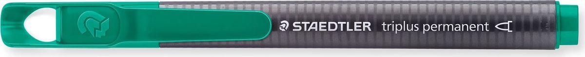 Staedtler Маркер перманентный Triplus 1-2 мм цвет чернил зеленый3452-5Маркер перманентный эргономичной трехгранной формы позволяет проводить линии шириной от 1 до 2 мм.Маркер заправлен перманентными чернилами, они быстро высыхают, чернила свето- и влагостойкие. Надписи, сделанные этим маркером,устойчивы к истиранию. Подходит для маркирования на бумаге, картоне, пластике, стекле и металле.