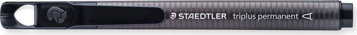 Staedtler Маркер перманентный Triplus 1-2 мм цвет чернил черный3452-9Маркер перманентный эргономичной трехгранной формы позволяет проводить линии шириной от 1 до 2 мм.Маркер заправлен перманентными чернилами, они быстро высыхают, чернила свето- и влагостойкие. Надписи, сделанные этим маркером,устойчивы к истиранию. Подходит для маркирования на бумаге, картоне, пластике, стекле и металле.