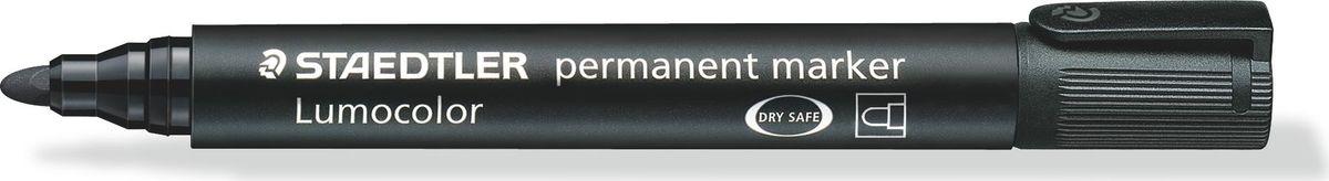 Staedtler Маркер перманентный Lumocolor 2 мм цвет чернил черный352-902Перманентный маркер с круглым пишущим узлом позволяет проводить линии толщиной 2-5 мм. Превосходная защита от смазывания и водоустойчивые характеристики на большинстве гладких поверхностей. Высыхает в считанные секунды, что делает его идеальным для левшей.Защита от высыхания - может быть оставлен без колпачка на несколько дней.