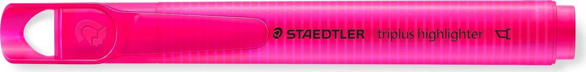 Staedtler Маркер Triplus Highlighter 2-5 мм цвет чернил розовый3654-23Текстовыделители от Staedtler в новом исполнении! Эргономичная трехгранная форма, колпачок с отверстием для крепления. Непревзойденная яркость цветов! Идеален для использования на бумаге, фото- и факсовой бумаге. Быстро высыхает. Долгий срок службы. Удобство в использовании. Толщина линии 2-5 мм. Скошенная форма пишущего узла. Розовый цвет чернил.