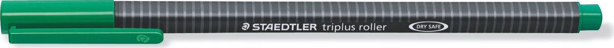 Staedtler Ручка роллер Triplus 0,4 мм цвет чернил зеленый403-5Ручка-роллер с корпусом из полипропилена и эргономичной трехгранной формой для удобного и легкого письма. Пишущий узел завальцован в металл. Чернила на водной основе отстирываются с большинства тканей. Безопасна для самолетов - автоматическое выравнивание давления предотвращает от вытекания чернил на борту самолета.