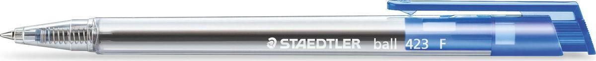 Staedtler Ручка шариковая Ball с клипом 0,3 мм цвет чернил синий423F-3Шариковая ручка с эргономичной трехгранной формой для удобного и легкого письма. Чернила не смываемые.Безопасна для самолетов - автоматическое выравнивание давления предотвращает от вытекания чернил на борту самолета.