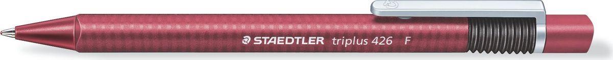 Staedtler Ручка шариковая Triplus 0,3 мм цвет чернил красный426F-2Автоматическая шариковая ручка с эргономичной трехгранной формой для удобного и легкого письма. Нескользящий прорезиненный корпус. Цвет корпуса соответствует цвету чернил. Безопасно использовать в самолете - автоматическое выравнивание давления предотвращает утечку чернил на борту самолета. Толщина линии F - 0,3 мм.