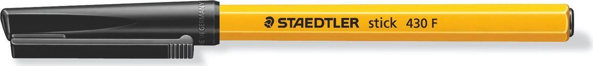 Staedtler Ручка шариковая Stick 0,3 мм цвет чернил черный430F-902Одноразовая шариковая ручка серии stick 430. Цвет черный. Шариковая ручка с колпачком и клипом. Безопасно использовать в самолете - автоматическое выравнивание давления предотвращает утечку чернил на борту самолета. Толщина линии F - 0,3 мм.
