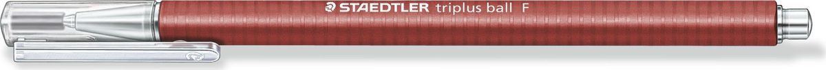 Staedtler Ручка шариковая Triplus Ball 0,3 мм цвет чернил красный431F-2Шариковая ручка с эргономичной формой для удобного и легкого письма. Нескользящий прорезиненный корпус, металлический наконечник и отвинчивающаяся торцевая часть. Заменяется стандартными стержнями толщины F. Безопасно для самолетов - автоматическое выравнивание давления предотвращает от вытекания чернил на борту самолета.