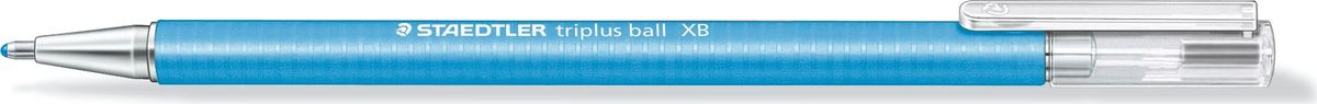 Staedtler Ручка шариковая Triplus Ball 0,7 мм цвет чернил голубой431XB-30Шариковая ручка с эргономичной формой для удобного и легкого письма. Нескользящий прорезиненный корпус, металлический наконечник и отвинчивающаяся торцевая часть. Заменяется стандартными стержнями толщины F. Безопасно для самолетов - автоматическое выравнивание давления предотвращает от вытекания чернил на борту самолета.