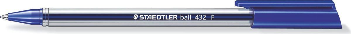 Staedtler Ручка шариковая Ball 0,3 мм цвет чернил синий432F-3Трехгранная шариковая ручка серии ball 432. Цвет синий. Эргономичная трехгранная форма для удобного и легкого письма. Очень гладкое письмо. Прозрачный корпус. Колпачок, пишущий узел и торцевая часть соответствует цвету чернил. Несмываемые чернила. Безопасно использовать в самолете - автоматическое выравнивание давления предотвращает вытекание чернил на борту самолета. Толщина линии F - 0,3 мм.