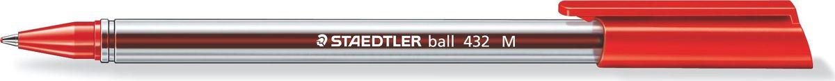Staedtler Шариковая ручка Ball, M 0,5 мм, цвет красный432M-2Шариковая ручка с эргономичной трехгранной формой для удобного и легкого письма.Колпачок, пишущий узел и торцевая часть соответствует цвету чернил. Несмываемые чернила. Безопасно использовать в самолете - автоматическое выравнивание давления предотвращает вытекание чернил на борту самолета. Толщина линии M - 0,5 мм.