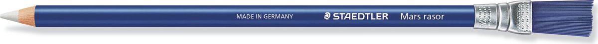Staedtler Ластик-карандаш Mars Rasor52661Ластик в пластиковом держателе предназначен для точечного стирания, с кисточкой на конце для карандашей, ручек, чернил.