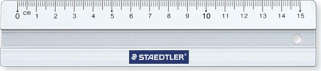 Staedtler Линейка Mars 563 15 см56315Линейка алюминиевая Mars, длина 15 см. Со скошенными краями для предотвращения смазывания и растекания чернил. Нескользящая, в индивидуальной прозрачной упаковке с подвесом.