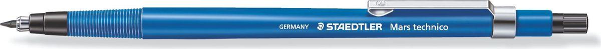 Staedtler Карандаш цанговый Mars Technico 788 HB 2 мм цвет синий788CМеханический карандаш трехгранной эргономичной формы для удобного и легкого письма. Твердость грифеля - (твердо-мягкий). Хромированный металлический пишущий узел. Безопасно для ношения в кармане благодаря убираемому грифелю. Наличие амортизирующего крепления грифеля является дополнительной защитой от поломки грифеля. Экстра длинный выкручивающийся ластик без ПВХ и латекса.