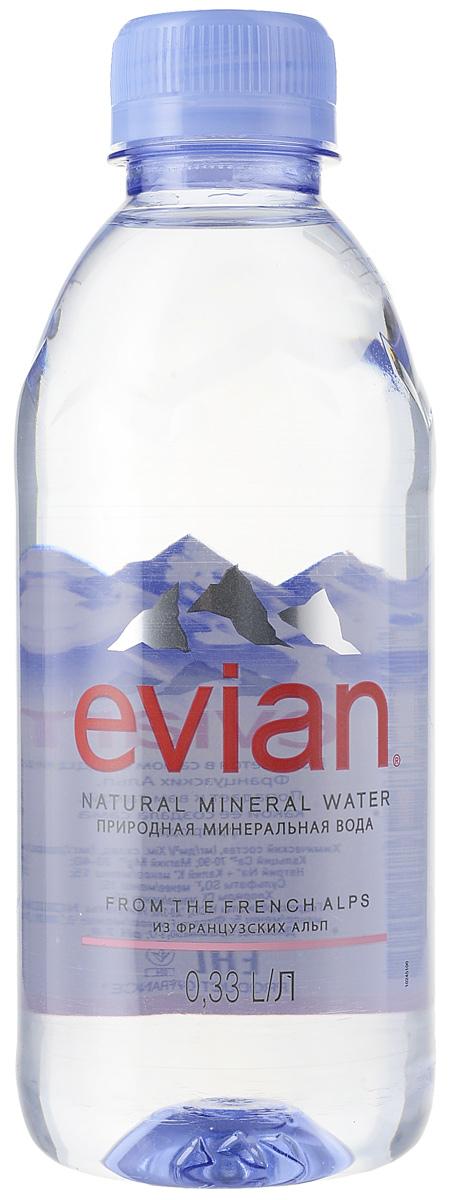 Evian вода минеральная природная столовая негазированная, 0,33 л340023600Evian - природная минеральная вода. Уникальный минеральный состав природной воды Evian способствует поддержанию водного баланса в организме.Источник Evian находится на бережно охраняемой территории, в самом сердце французских Альп. В процессе естественной фильтрации горными породами в течение 15 лет природная минеральная вода Evian приобретает уникальный сбалансированный минеральный состав и, непосредственно у источника, разливается в бутылки.