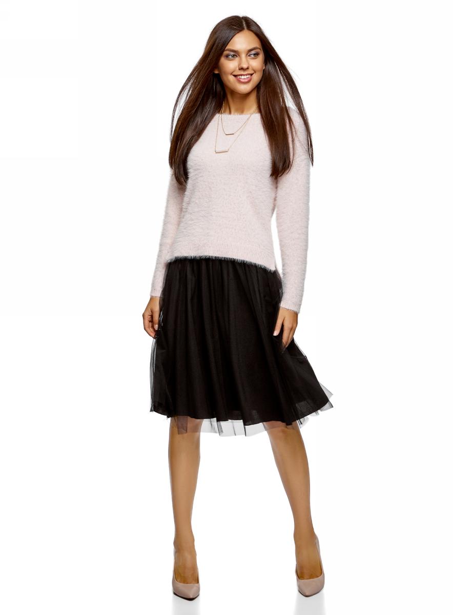 Юбка oodji Ultra, цвет: черный. 13G00006/47324/2900N. Размер 40-170 (46-170)13G00006/47324/2900NМодная юбка-пачка от oodji выполнена из высококачественного материала. Модель на эластичном поясе.
