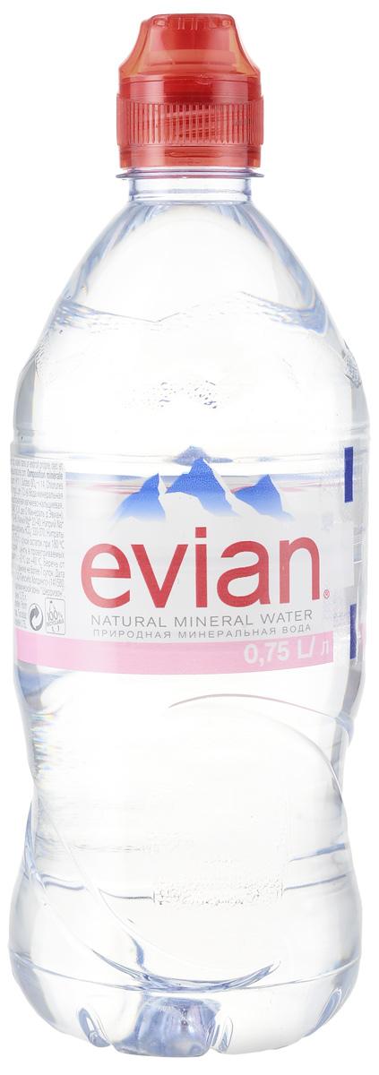 Evian вода минеральная природная столовая негазированная, 0,75 л минеральная вода в ульяновске с доставкой на дом