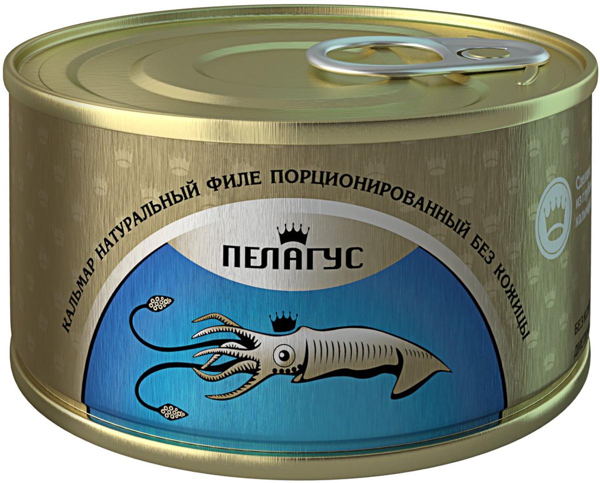Пелагус кальмар натуральный филе без кожицы, 185 г4627098460163