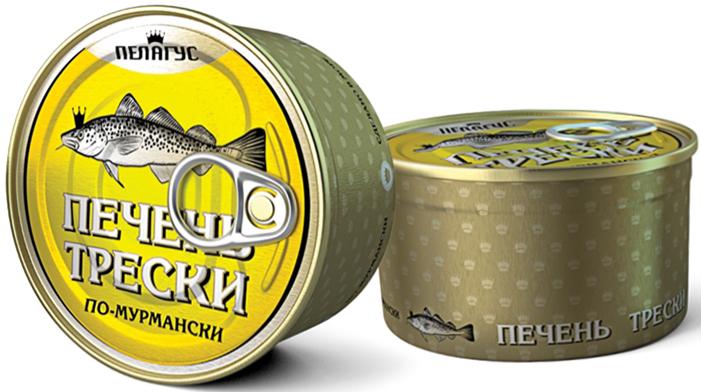 Пелагус печень трески по-мурмански, 190 г4627098460026Полюбившийся вкус традиционного рыбного деликатеса.