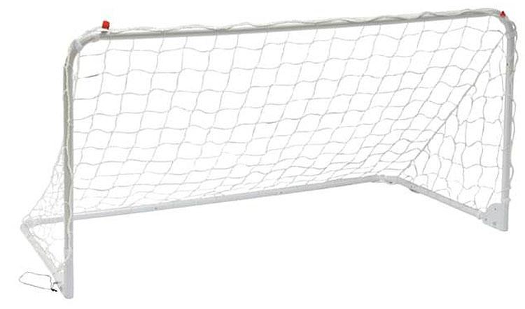 Футбольные ворота Mitre, тренировочные, цвет: белый, 183 x 92 смA3050AAAФутбольные ворота Mitre тренировочные имеют складную конструкцию. Изделие изготовлено из прочного металла с нейлоной сеткой. Ворота дополнены крюками для крепления в земле. Размеры: 186 х 92 см.