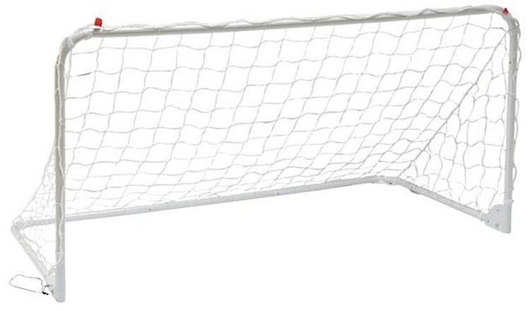Футбольные ворота Mitre, тренировочные, цвет: белый, 244 x 83 смA3050AAAAФутбольные ворота Mitre тренировочные имеют складную конструкцию. Изделие изготовлено из прочного металла с нейлоной сеткой. Ворота дополнены крюками для крепления в земле. Размеры: 186 х 250 см.