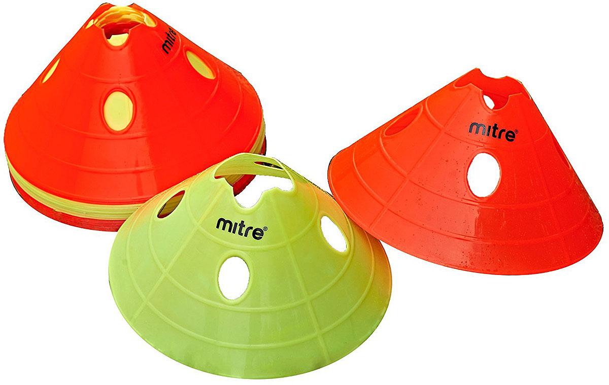 Гибкие тренировочные фишки Mitre  Space Marker , цвет: красный, 20 шт - Аксессуары для командных видов спорта