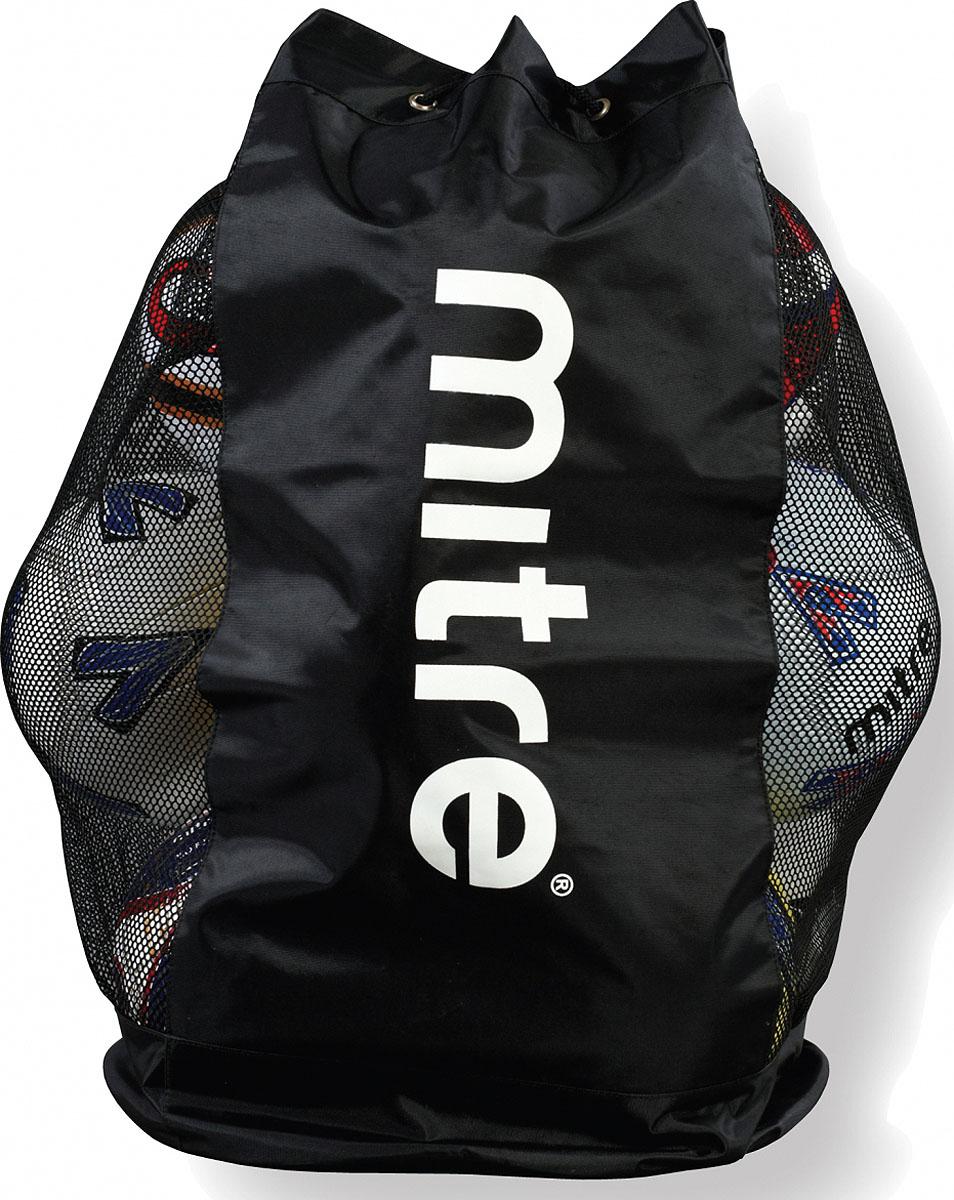 Мешок для мячей с сеткой Mitre, цвет: черный, 12 штH2423BNBМешок с сетчатыми боковыми панелями для хранения и переноски 12 мячейРегулируемые плечевые ремниСверху затягивающийся шнурЖёсткое дноЦвет: чёрный