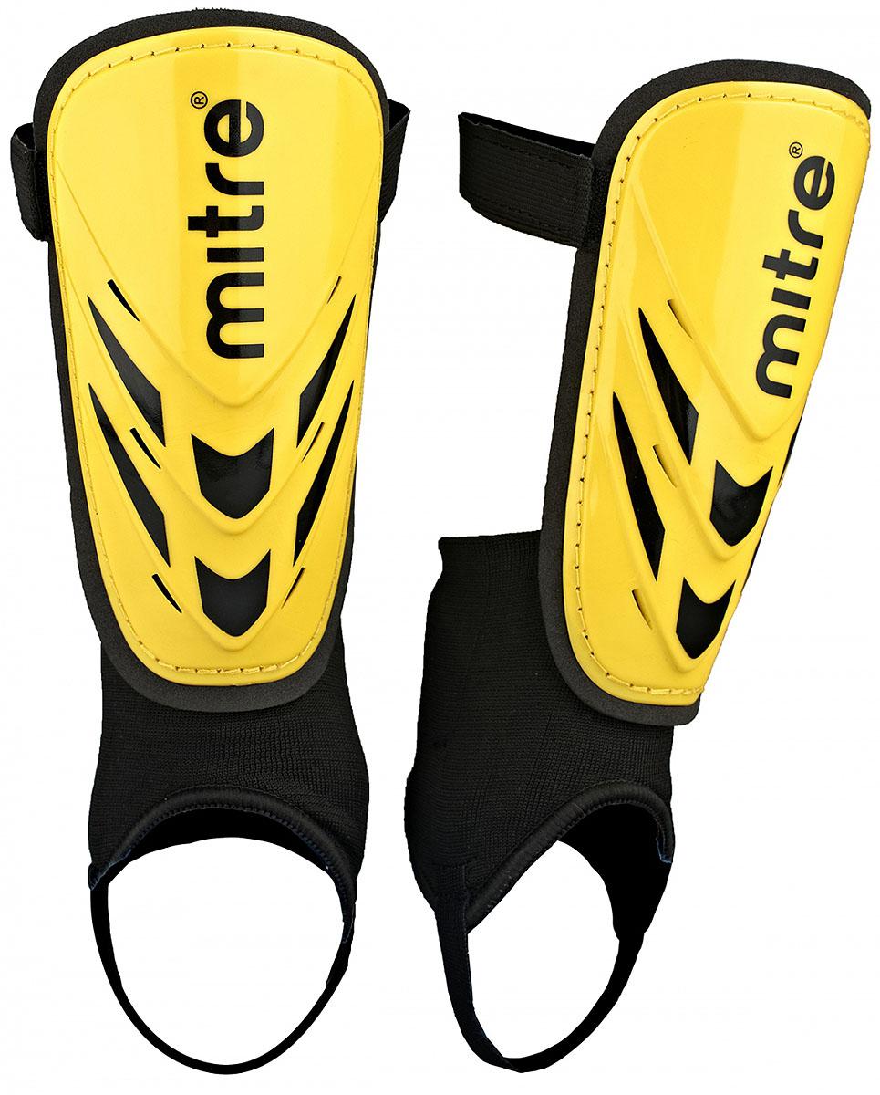 Щитки футбольные Mitre Mayan, цвет: желтый. Размер M