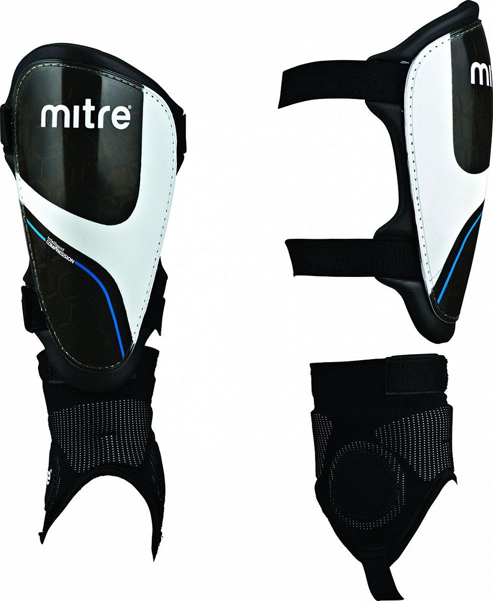 Щитки футбольные Mitre  Oka IP Pro , цвет: черный. Размер L - Футбол