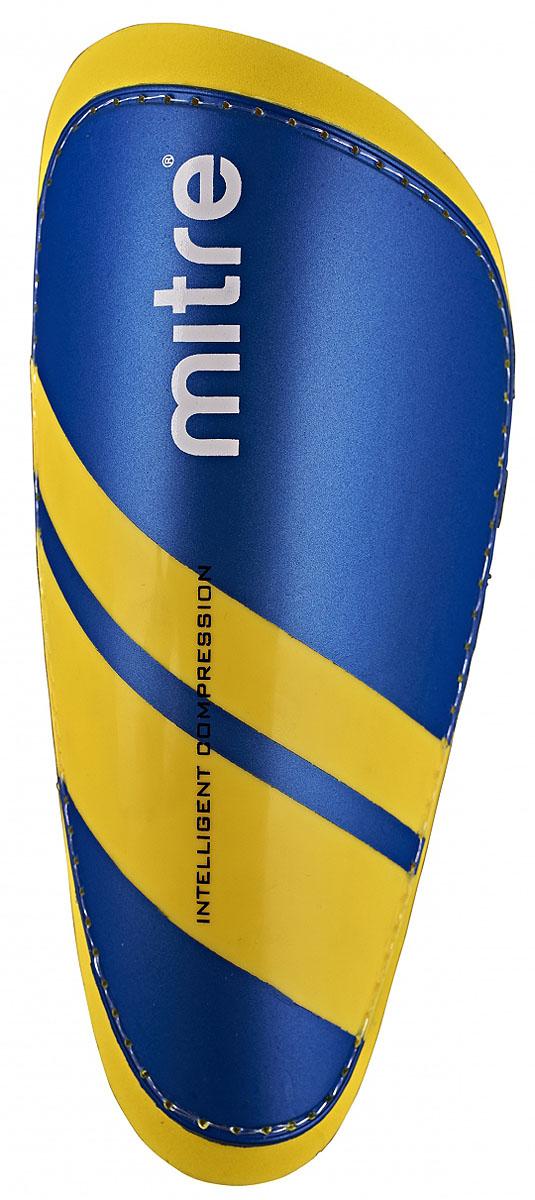 Щитки футбольные Mitre IC Tungsten Slip, цвет: синий. Размер MS70009BQ1Технология Intelligent Compression - максимальная защита от любых воздействий в любой игровой ситуации.Яркий и привлекательный дизайн выделяет спортсмена.Щитки для быстрых игроков.45%-PP, 45%-EVA, 5%-polyester, 5%-rubberРазмер M – рост 140-160 см.