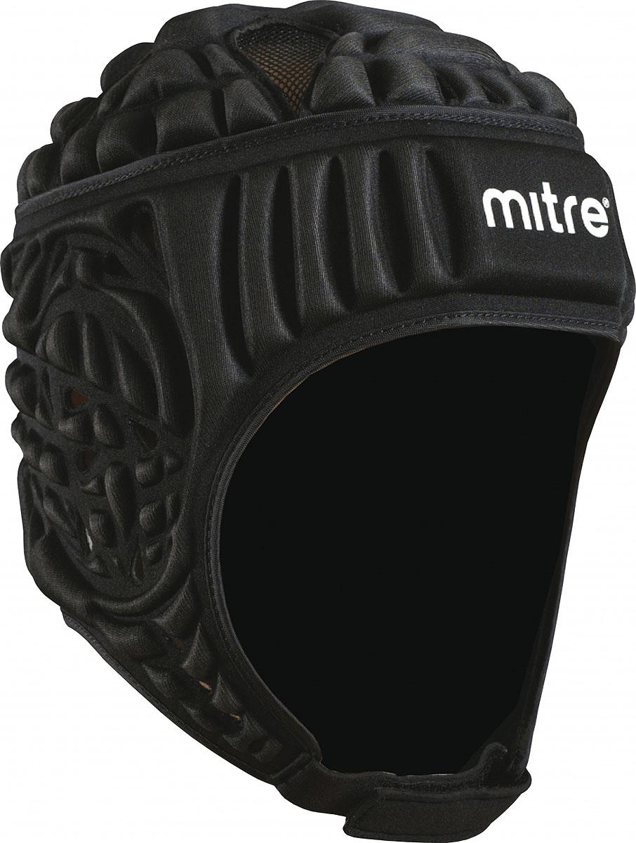 Шлем защитный Mitre Siedge, цвет: черный. T21710. Размер LT21710Защитный шлем Mitre Siedge одобрен IRB и имеет удобную форму. Вырез в районе ушей для вентиляции и слуха. Подбородочный ремешок на липучке. Регулируемый шнурком размер на затылочной части.