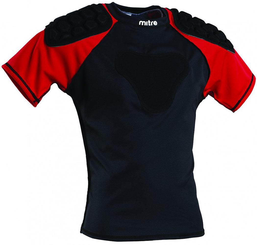Наплечники Mitre Academy, регбийные, цвет: черный. Размер XLT21814MBE4Защита плеч регбийная Mitre Academy сконструирована легендой южноафриканского регби Иарком Эндрюсом (SHARKS & SPRINGBOKS) специально для профессионалов. Имеет плотные защитные накладки на плечах и груди. Сделана из влагоотводящего эластичного полиэстера, хорошо вентилируется и облегает тело.
