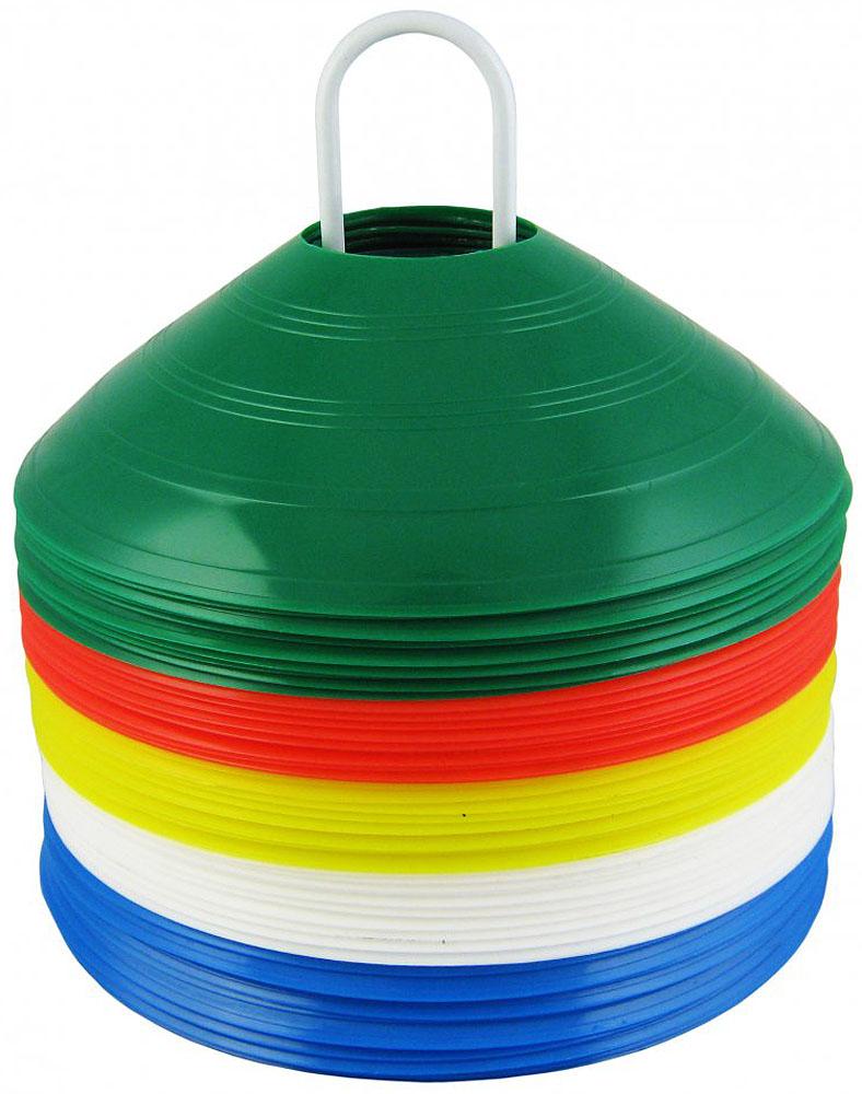 Фишки для разметки поля Mitre, 50 штА3007AAAФишки для разметки поля Mitre изготовлены из качественного пластика. Выполнены в форме усеченных конусов на подставке без стопора.В комплекте: 50 фишек. Сумочка для переноски.Высота: 10 см.