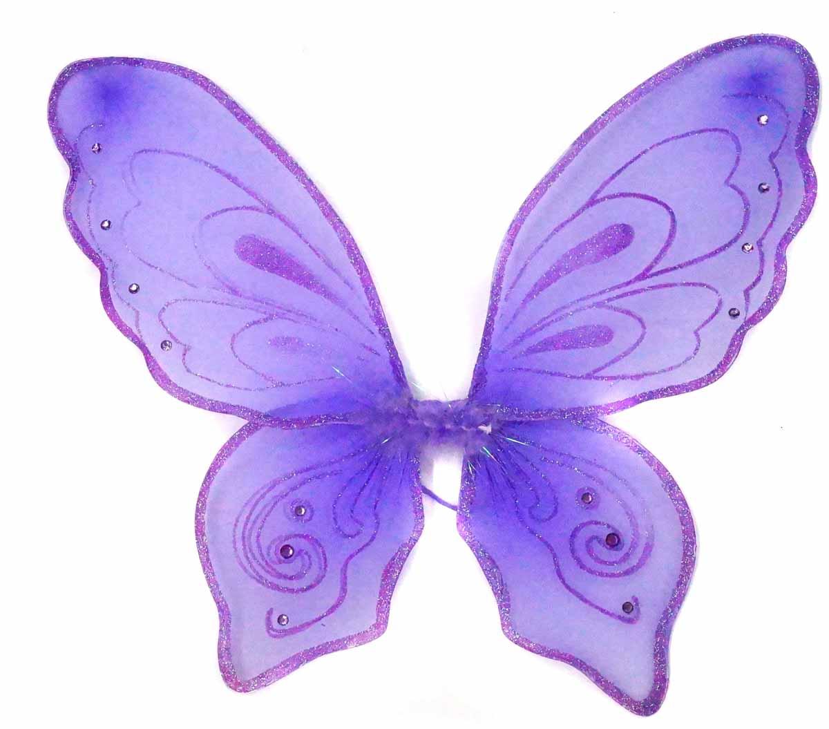 Новогодняя сказка Крылья карнавальные Бабочка цвет фиолетовый 972579