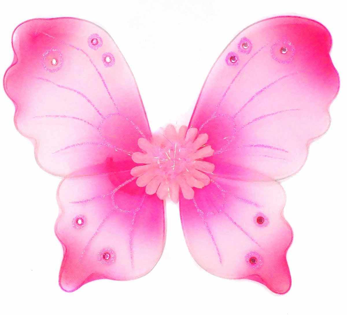 Новогодняя сказка Крылья карнавальные Бабочка цвет розовый 972580 -  Аксессуары для детского праздника