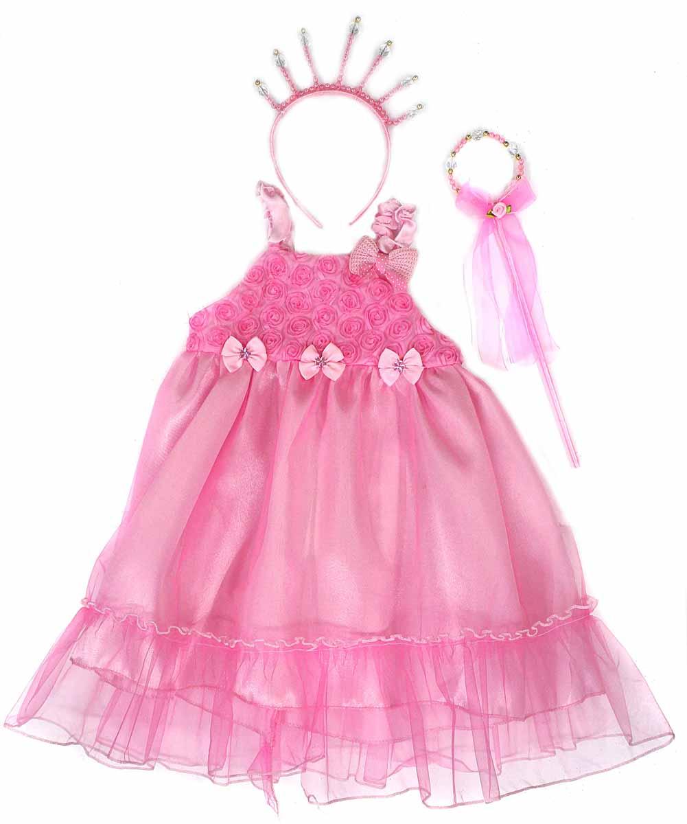 Фото Новогодняя сказка Карнавальный костюм для девочки Принцесса цвет розовый 972133