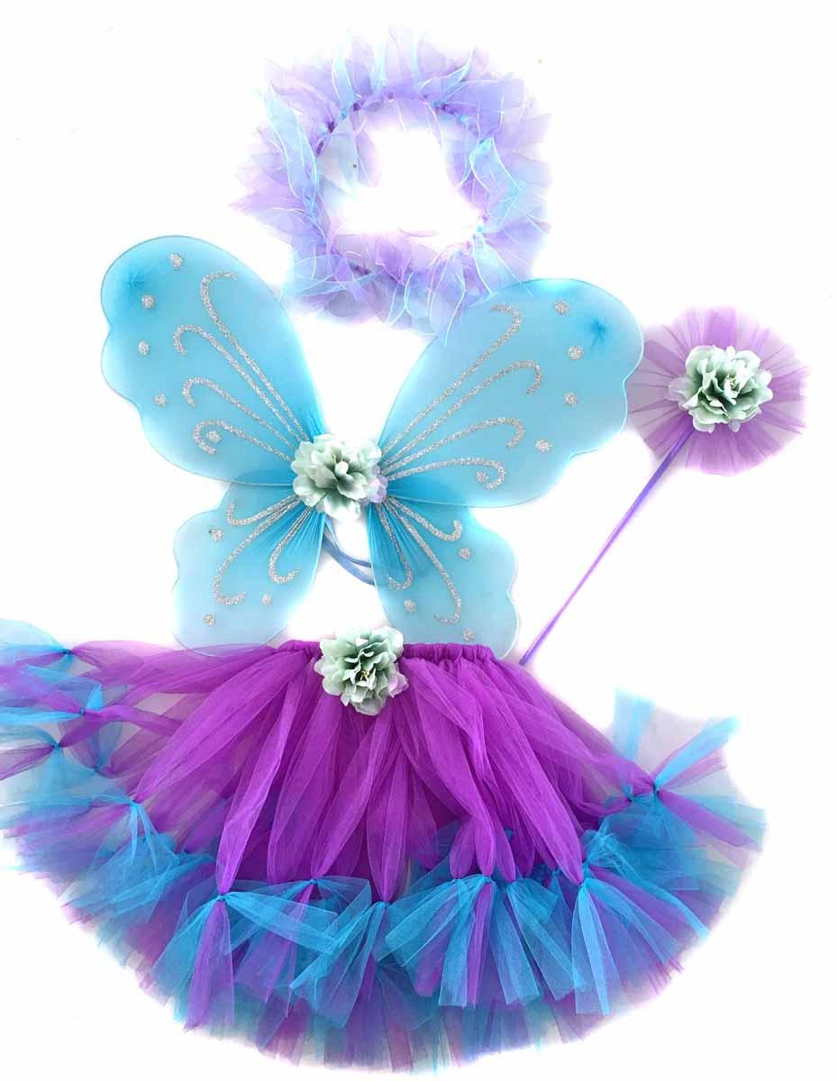 Новогодняя сказка Карнавальный костюм для девочки Фея цвет фиолетовый 973109 книжки картонки росмэн волшебная снежинка новогодняя книга