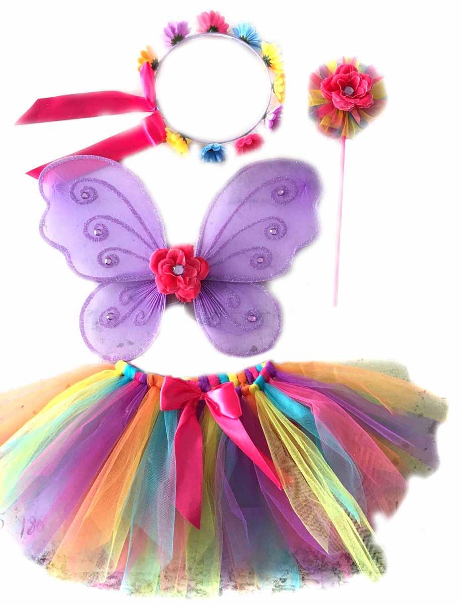 Новогодняя сказка Костюм карнавальный Фея цвет фиолетовый