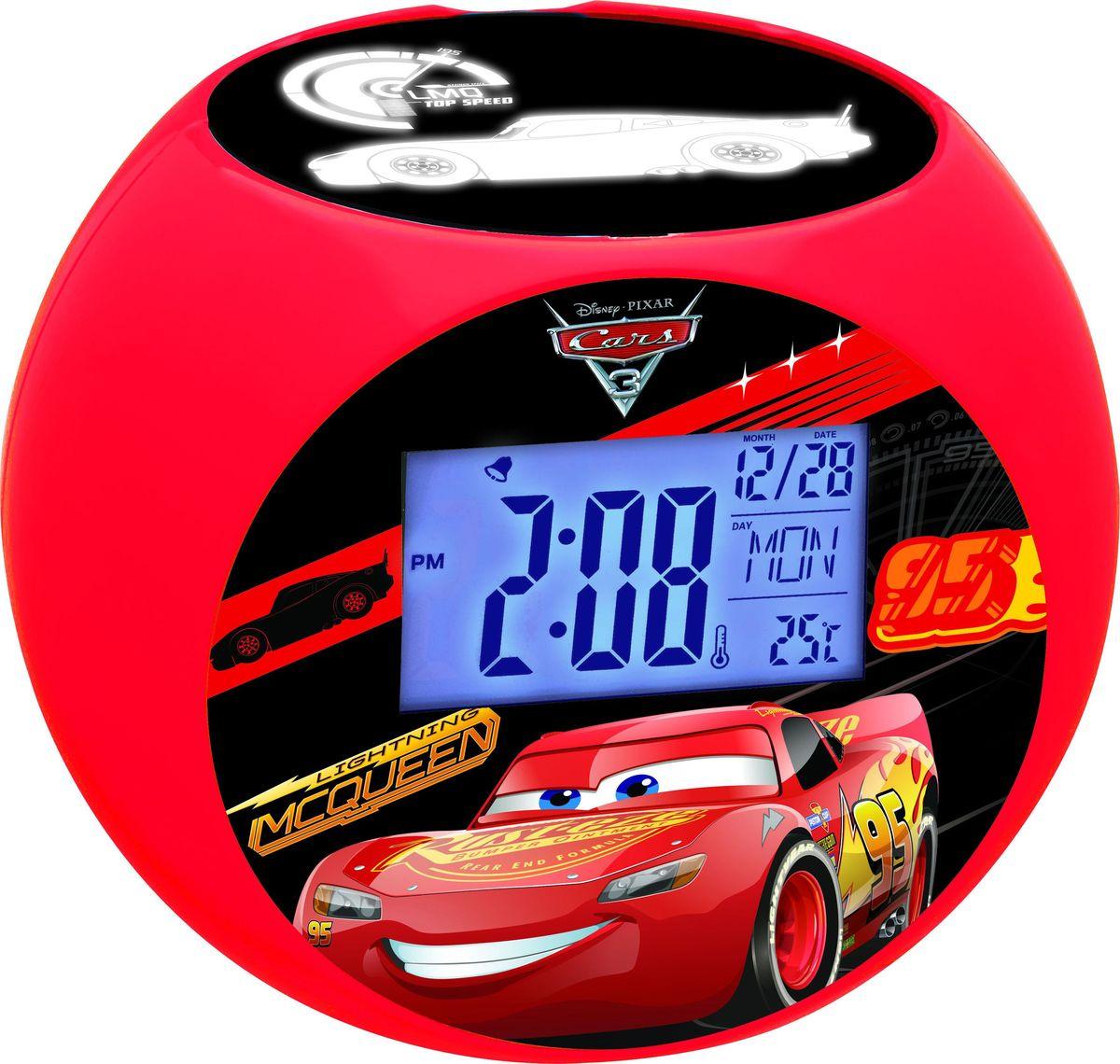 Lexibook Часы-прожектор Тачки267384Ваши любимые герои теперь будут еще ближе! Стильные и удобные радио-часы с ЖК экраном, сделанные в дизайне героев мультфильма с функциями будильника, ночника и проектора, который проецирует время и картинки на потолок. Благодаря 10-ти встроенным в радио-часы звукам природы вы можете расслабиться в любое время! Продукт произведен по официальной лицензии, прекрасный подарок детям и их родителям!